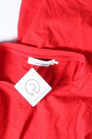 Дамска тениска Samsoe & Samsoe, Размер M, Цвят Червен, 100% памук, Цена 51,48лв.
