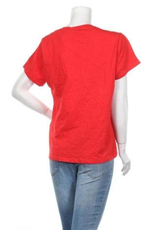 Дамска тениска Samsoe & Samsoe, Размер XL, Цвят Червен, 100% памук, Цена 29,67лв.