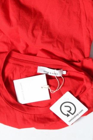 Дамска тениска Samsoe & Samsoe, Размер L, Цвят Червен, 100% памук, Цена 29,67лв.