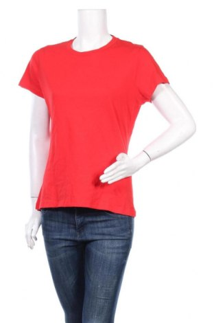 Дамска тениска Samsoe & Samsoe, Размер S, Цвят Червен, 100% памук, Цена 51,48лв.