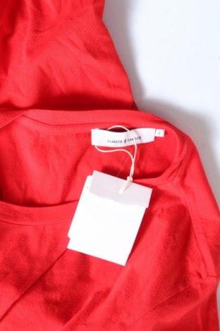 Дамска тениска Samsoe & Samsoe, Размер S, Цвят Червен, 100% памук, Цена 29,67лв.