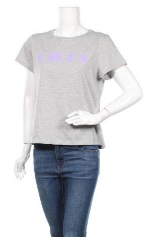 Дамска тениска Second Script, Размер M, Цвят Сив, Памук, Цена 13,50лв.