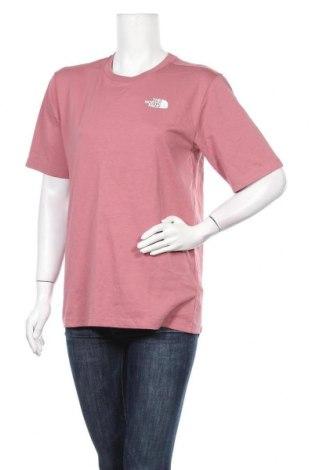Дамска тениска The North Face, Размер S, Цвят Пепел от рози, Памук, Цена 69,00лв.