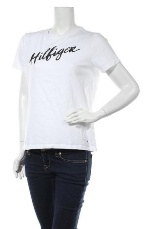 Дамска тениска Tommy Hilfiger, Размер M, Цвят Бял, Памук, Цена 58,50лв.