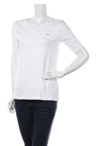 Дамска тениска Tommy Hilfiger, Размер XL, Цвят Бял, 95% памук, 5% еластан, Цена 65,57лв.