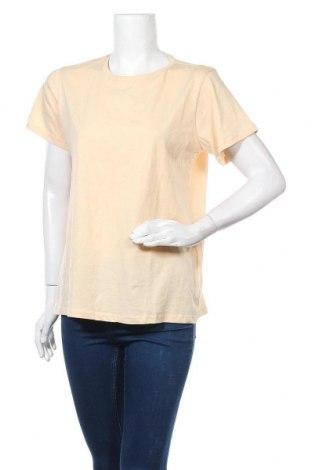 Дамска тениска Trendyol, Размер XL, Цвят Бежов, Памук, Цена 13,30лв.