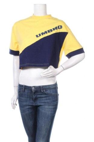 Дамска тениска Umbro, Размер L, Цвят Жълт, 95% памук, 5% еластан, Цена 17,55лв.