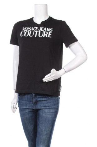 Дамска тениска Versace Jeans, Размер M, Цвят Черен, Памук, Цена 147,42лв.