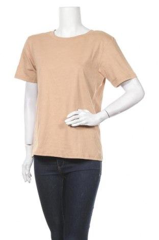 Дамска тениска Zign, Размер M, Цвят Бежов, Памук, Цена 23,24лв.