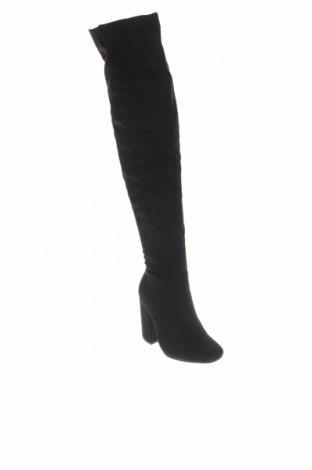 Дамски ботуши, Размер 36, Цвят Черен, Текстил, Цена 19,80лв.