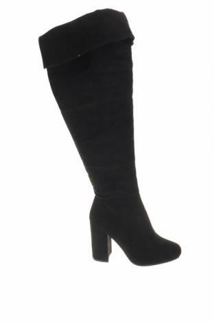 Дамски ботуши, Размер 35, Цвят Черен, Текстил, Цена 19,80лв.