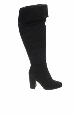 Γυναικείες μπότες, Μέγεθος 38, Χρώμα Μαύρο, Κλωστοϋφαντουργικά προϊόντα, Τιμή 13,76€
