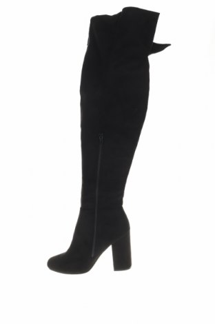 Дамски ботуши, Размер 41, Цвят Черен, Текстил, Цена 19,80лв.