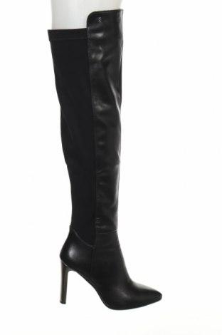 Γυναικείες μπότες Laura Biagiotti, Μέγεθος 39, Χρώμα Μαύρο, Κλωστοϋφαντουργικά προϊόντα, δερματίνη, Τιμή 57,76€