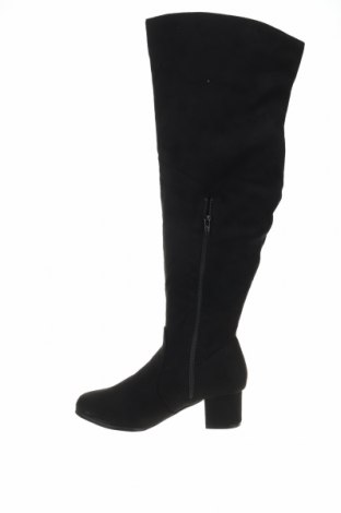 Γυναικείες μπότες Spot, Μέγεθος 38, Χρώμα Μαύρο, Κλωστοϋφαντουργικά προϊόντα, Τιμή 12,92€