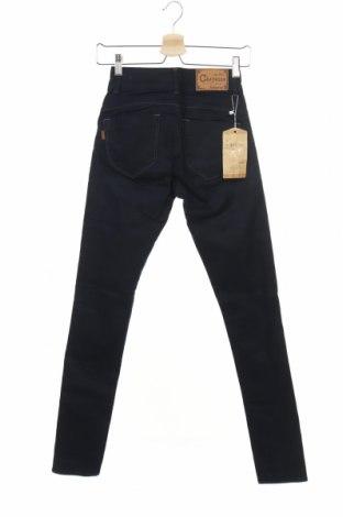Дамски дънки, Размер S, Цвят Син, 99% памук, 1% еластан, Цена 28,56лв.