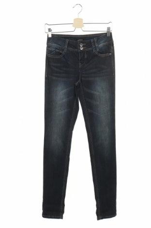 Дамски дънки Morgan, Размер S, Цвят Син, 99% памук, 1% еластан, Цена 20,24лв.
