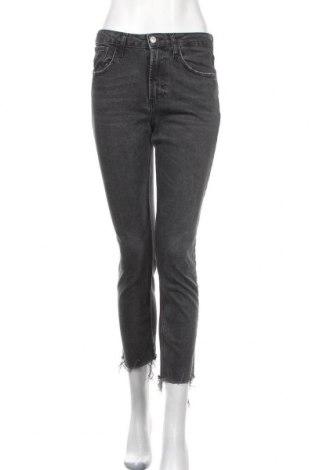 Дамски дънки Zara Trafaluc, Размер S, Цвят Сив, 96% памук, 3% полиестер, 1% еластан, Цена 33,92лв.