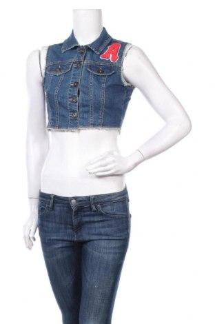 Дамски елек New Look, Размер M, Цвят Син, 98% памук, 2% еластан, Цена 8,32лв.