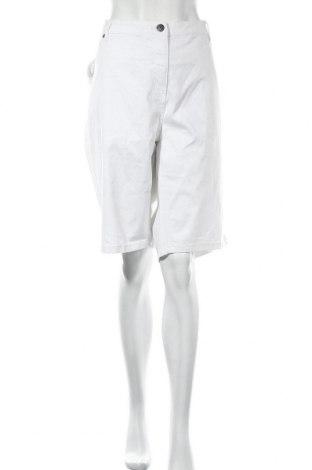 Γυναικείο κοντό παντελόνι Adia, Μέγεθος 4XL, Χρώμα Λευκό, 97% βαμβάκι, 3% ελαστάνη, Τιμή 12,02€