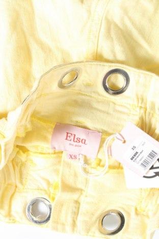 Γυναικείο κοντό παντελόνι Elsa, Μέγεθος XS, Χρώμα Κίτρινο, Βαμβάκι, Τιμή 10,05€