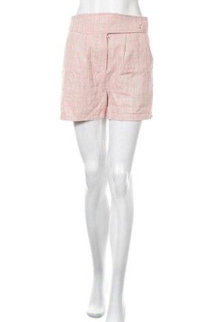 Γυναικείο κοντό παντελόνι Lost Ink, Μέγεθος S, Χρώμα Ρόζ , 70% λινό, 30% βαμβάκι, Τιμή 12,47€