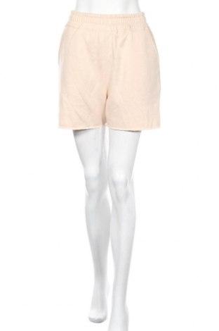 Γυναικείο κοντό παντελόνι Missguided, Μέγεθος S, Χρώμα  Μπέζ, 65% πολυεστέρας, 35% βαμβάκι, Τιμή 8,77€