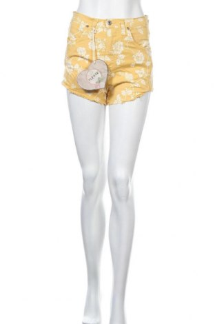 Γυναικείο κοντό παντελόνι Please, Μέγεθος S, Χρώμα Κίτρινο, 97% βαμβάκι, 3% ελαστάνη, Τιμή 21,58€