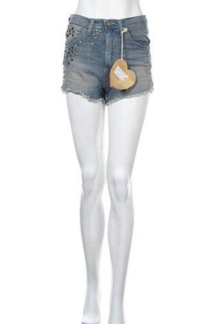 Γυναικείο κοντό παντελόνι Please, Μέγεθος S, Χρώμα Μπλέ, 98% βαμβάκι, 2% ελαστάνη, Τιμή 21,58€