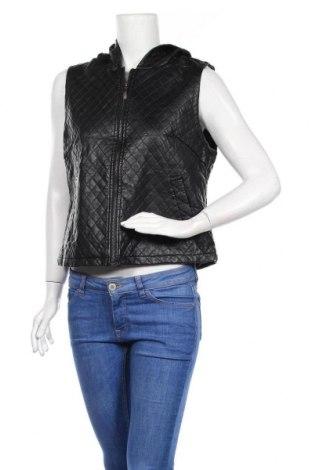 Дамски кожен елек Caroline K Morgan, Размер L, Цвят Черен, Еко кожа, Цена 21,95лв.
