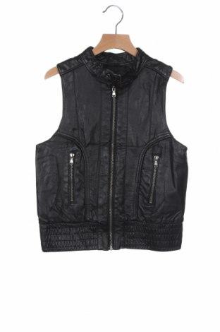 Дамски кожен елек Outfitters Nation, Размер XS, Цвят Черен, Еко кожа, Цена 15,70лв.