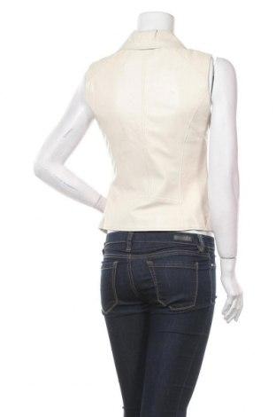 Дамски кожен елек Please, Размер XS, Цвят Бежов, Естествена кожа, Цена 201,75лв.