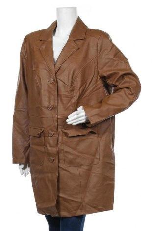 Дамски кожен шлифер Bpc Bonprix Collection, Размер XL, Цвят Кафяв, Еко кожа, Цена 30,03лв.