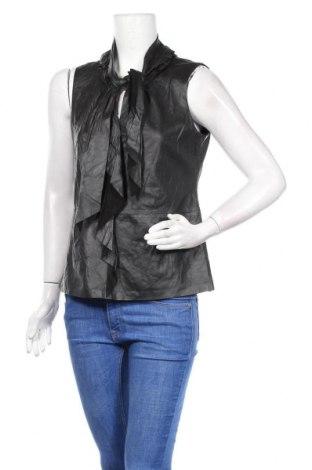 Дамски кожен топ Elie Tahari, Размер M, Цвят Черен, Естествена кожа, Цена 38,85лв.