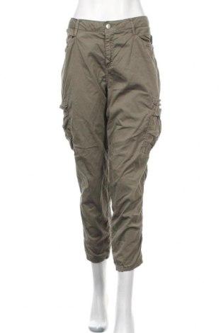 Γυναικείο παντελόνι Soya Concept, Μέγεθος L, Χρώμα Πράσινο, 98% βαμβάκι, 2% ελαστάνη, Τιμή 23,97€