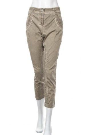 Γυναικείο παντελόνι G.W., Μέγεθος L, Χρώμα Πράσινο, 97% βαμβάκι, 3% ελαστάνη, Τιμή 10,00€