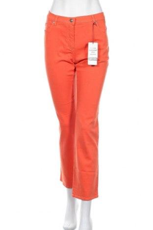 Дамски панталон Gerry Weber, Размер M, Цвят Оранжев, 98% памук, 2% еластан, Цена 59,25лв.