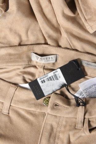 Дамски панталон Guess, Размер S, Цвят Бежов, 87% полиестер, 13% еластан, Цена 50,70лв.