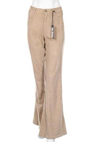 Дамски панталон Guess, Размер L, Цвят Бежов, 87% полиестер, 13% еластан, Цена 50,70лв.