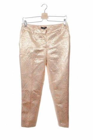 Дамски панталон H&M, Размер XS, Цвят Златист, 46% полиестер, 39% вискоза, 15% метални нишки, Цена 9,24лв.