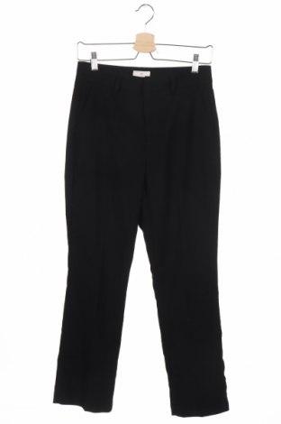 Дамски панталон Kaffe, Размер XS, Цвят Черен, 64% полиестер, 33% вискоза, 3% еластан, Цена 20,79лв.