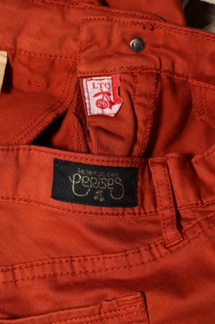 Дамски панталон Le Temps Des Cerises, Размер XS, Цвят Кафяв, 97% памук, 3% еластан, Цена 18,48лв.