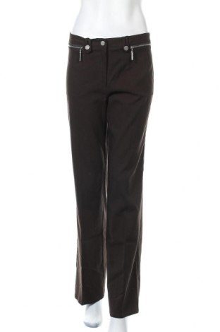 Дамски панталон Leonardo, Размер M, Цвят Зелен, 65% вискоза, 30% полиестер, 5% еластан, Цена 7,39лв.