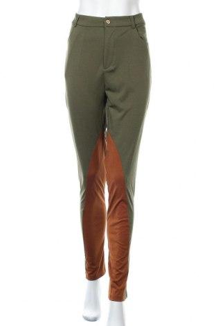 Дамски панталон Miss Look, Размер L, Цвят Зелен, Памук, полиестер, Цена 12,50лв.