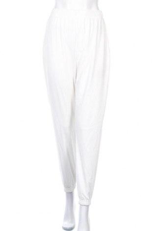 Γυναικείο αθλητικό παντελόνι Missguided, Μέγεθος S, Χρώμα Εκρού, 95% πολυεστέρας, 5% ελαστάνη, Τιμή 6,12€