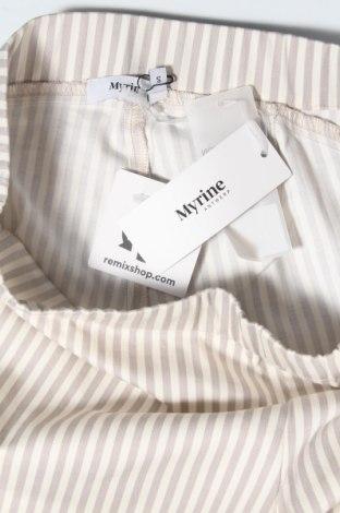 Дамски панталон Myrine, Размер S, Цвят Бежов, 97% памук, 3% еластан, Цена 31,00лв.