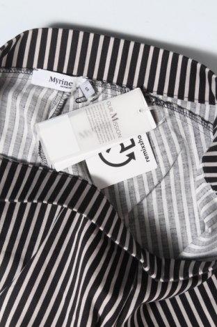 Дамски панталон Myrine, Размер S, Цвят Сив, 97% памук, 3% еластан, Цена 24,80лв.