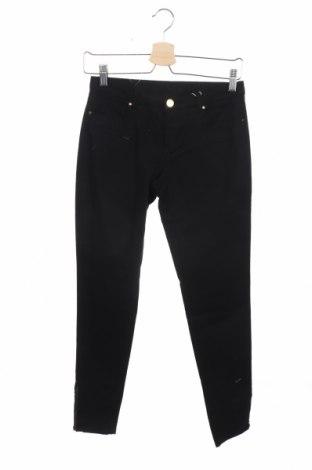 Дамски панталон Naf Naf, Размер XS, Цвят Черен, 98% памук, 2% еластан, Цена 17,38лв.