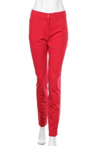Дамски панталон Nife, Размер M, Цвят Червен, 60% полиестер, 35% вискоза, 5% еластан, Цена 58,59лв.