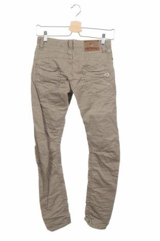 Дамски панталон Please, Размер S, Цвят Зелен, 98% памук, 2% еластан, Цена 81,75лв.